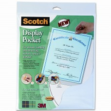 3M Scotch Display Pocket with Removable Interlocking Fasteners TM3268
