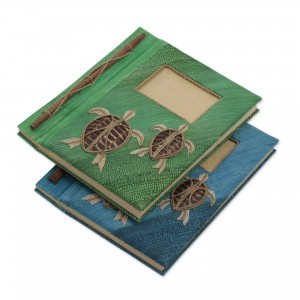 Bloomsbury Market Turtle Memories Natural Fiber Journal Scrapbook NVC14001