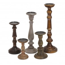 Darby Home Co Wood Candlestick Set DRBH2824