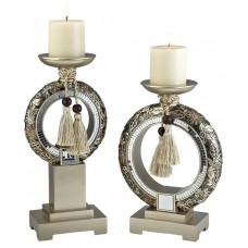 OK Lighting Chrysanthemum 2 Piece Candlestick Set OKLG1519