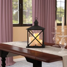 Charlton Home Plastic Lantern with 3 LED Candles DEIC2284