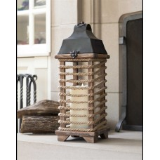 Melrose Intl. Rope Wrapped Wood Lantern MRI1063