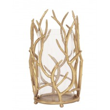 Everly Quinn Gold Branches Metal Hurricane EYQN2010