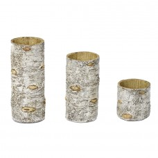 Loon Peak Birch 3 Piece Hurricane Set LOPK6174