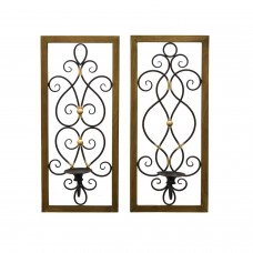 Fleur De Lis Living 2 Piece Metal Sconce Set SBNQ1028