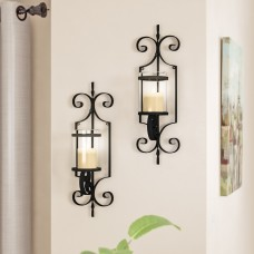 Red Barrel Studio Iron Sconce Set RDBS9074