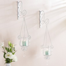 Willa Arlo Interiors Iron and Glass Sconce Set WLAO2662