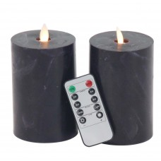 17 Stories Modern Cylindrical Flicker Flameless Candle Set STSS6505