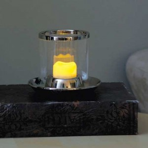Pacific Accents Resin Wavy Top Flameless Tea Lights Candle EKT1009