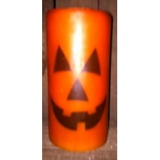 StarHollowCandleCo Jack-O'-Lantern Graphic Unscented Pillar Candle SHCC1848