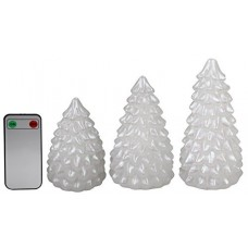 The Holiday Aisle 3 Piece Christmas Tree Unscented Flameless Candle Set THLY3332