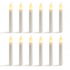 Winston Porter Warm Flameless LED Unscented Taper Candles XTBP1001
