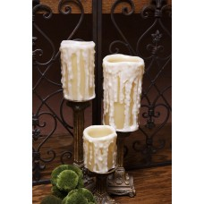 World Menagerie Flameless 3 Piece Pillar Candle Set with Remote WRMG3009