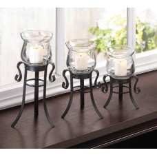 Zingz Thingz 3 Piece Allure Candle Stand Trio Set ZNGZ2989