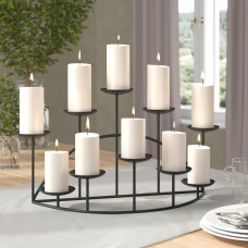 Darby Home Co Metal Ten Candle Candelabra Set DBHC6194
