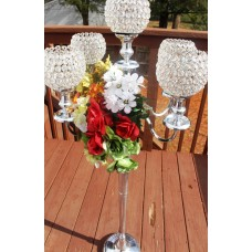 "Rosdorf Park 50"" Wedding Centerpiece Stainless Steel Candelabra ROSP6873"