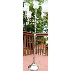 "Rosdorf Park 70"" Wedding Centerpiece Crystal Stainless Steel Candelabra ROSP6838"