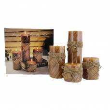 Essential Decor Beyond 4 Piece Scented Pillar Candle Set EDBI5905