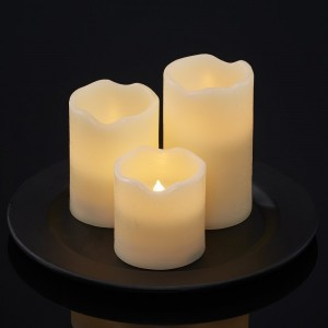 ManoPatio 3 Piece Unscented Flameless Candle Set MNOP1003