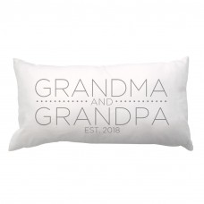 4 Wooden Shoes Grandma and Grandpa with Date Lumbar Pillow FWDS1407