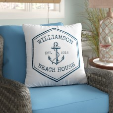 4 Wooden Shoes Personalized Beach House Throw Pillow FWDS1154