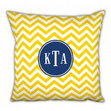 Boatman Geller Chevron Classic Monogram Cotton Throw Pillow TBMG1790