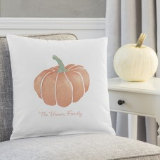 Cathys Concepts Personalized Harvest Pumpkin Cotton Throw Pillow YCT4678