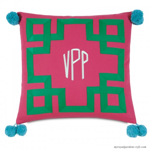 Eastern Accents Epic Preppy Embroidered 3 Letter Monogram Throw Pillow Hxf1604