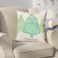Harriet Bee Diehl Little Seeds Mighty Tree Throw Pillow HRBE2527