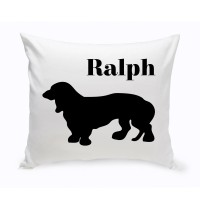 JDS Personalized Gifts Personalized Basset Hound Classic Silhouette Throw Pillow JMSI2511
