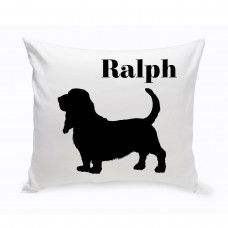 JDS Personalized Gifts Personalized Basset Hound Classic Silhouette Throw Pillow JMSI2526
