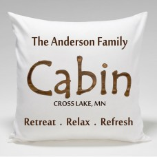 JDS Personalized Gifts Personalized Cabin Retreat.Relax.Refresh Throw Pillow JMSI2336