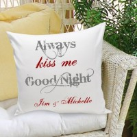 JDS Personalized Gifts Personalized Gift Couples and Love Cotton Throw Pillow JMSI1934