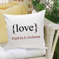JDS Personalized Gifts Personalized Gift Couples and Love Cotton Throw Pillow JMSI1935