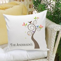 JDS Personalized Gifts Personalized Gift Family Name Cotton Throw Pillow JMSI1944