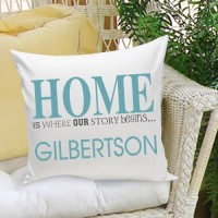 "JDS Personalized Gifts Personalized Gift Family Name ""Home"" Cotton Throw Pillow JMSI2036"