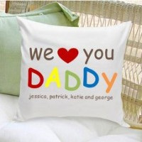 JDS Personalized Gifts Personalized Gift Parent Cotton Throw Pillow JMSI1991