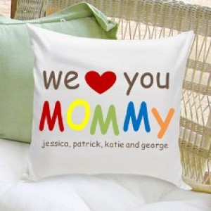 JDS Personalized Gifts Personalized Gift Parent Cotton Throw Pillow JMSI1992