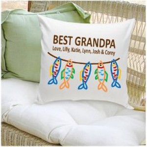 JDS Personalized Gifts Personalized Gift Parent Cotton Throw Pillow JMSI1994
