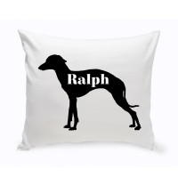 JDS Personalized Gifts Personalized Grey Hound Silhouette Throw Pillow JMSI2452
