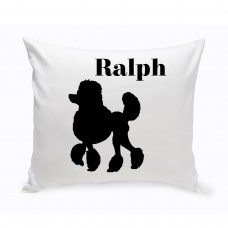 JDS Personalized Gifts Personalized Mini Poodle Classic Silhouette Throw Pillow JMSI2544