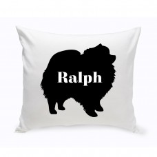 JDS Personalized Gifts Personalized Pomeranian Silhouette Throw Pillow JMSI2437