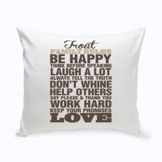 JDS Personalized Gifts Personalized Rustic Rules Cotton Throw Pillow JMSI2683