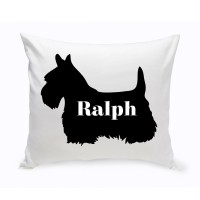 JDS Personalized Gifts Personalized Schnauzer Silhouette Throw Pillow JMSI2436