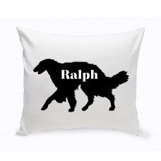 JDS Personalized Gifts Personalized Silken Windhound Silhouette Throw Pillow JMSI2463