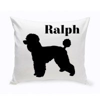 JDS Personalized Gifts Personalized Toy Poodle Classic Silhouette Throw Pillow JMSI2530