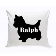 JDS Personalized Gifts Personalized Yorkshire Terrier Silhouette Throw Pillow JMSI2429