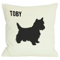 Monogrammed Personalized Westie Throw Pillow MONO1021
