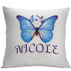 Monogramonline Inc. Personalized Butterfly Decorative Cushion Cover MOOL1073