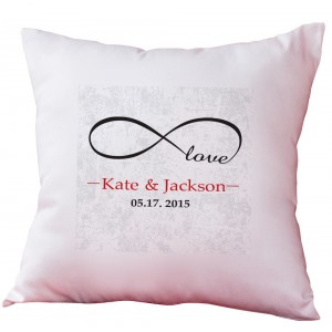 Monogramonline Inc. Personalized Infinity Love Decorative Cushion Cover MOOL1033